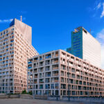 Modern apartment residential and flat building exterior at Vienna