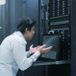syaytem administrator working in data center
